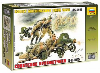 Model Kit figurky 3584 - Soviet Machineguns with Crew (1:35)