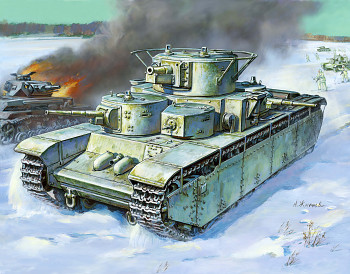 Model Kit tank 3667 - T-35 Heavy Soviet Tank (1:35)