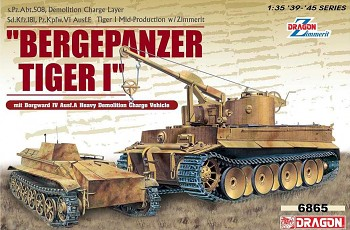 "Model Kit military 6865 - ""Bergepanzer Tiger I"" mit Borgward IV Ausf.A Heavy Demolition Charge Vehicle (1:35)"