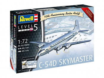 Plastic ModelKit letadlo Limited Edition 03910 - C-54D Skymaster 70th Anniversary Berlin Airlift (1:72)