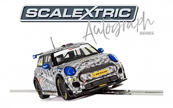 BMW Mini Cooper F56 - Luke Reade - Autíčko Limited Edition SCALEXTRIC C3873AE - Autograph Series