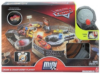 CARS 3 MINI HERNÍ SET Crank & Crash Derby Playset