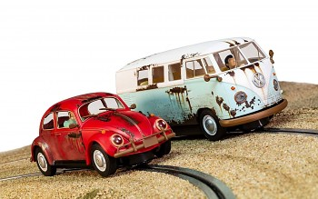 Legends Rusty Rides Volkswagen Beetle & T1B Camper Van – Limited Edition SCALEXTRIC C3966A