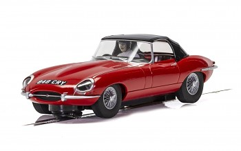 Jaguar E-Type - Red 848CRY - Autíčko SCALEXTRIC C4032