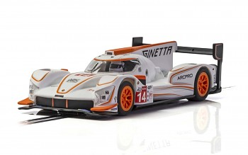 Ginetta G60-LT-P1 No 14 - White & Orange - Autíčko SCALEXTRIC C4061