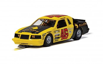 Ford Thunderbird - Yellow & Black No.46 - Autíčko Super Resistant SCALEXTRIC C4088