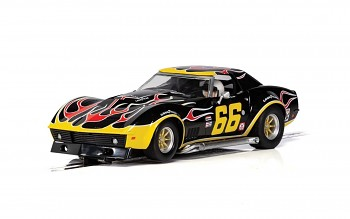 Chevrolet Corvette - No. 66 'Flames' - Autíčko Touring SCALEXTRIC C4107