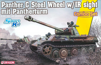 Model Kit tank 6941 - Panther Ausf.G Late Production (Steel Wheel) mit Pantherturm (1:35)