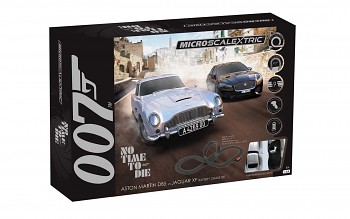 Autodráha MICRO SCALEXTRIC G1161M - James Bond 'No Time To Die' (Battery Powered) (1:64)