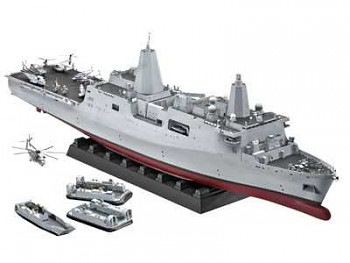 Plastic ModelKit loď 05118 - Amphibious Transport Dock U.S.S. New York (LPD-21) (1:350)
