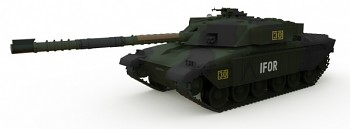 Tank British MBT Challenger 1 Forest 1/72