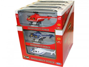 Bburago 1:50 Vrtulník Emergency Force sada 12ks